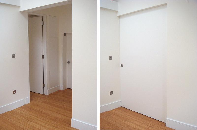 Large pocket sliding door