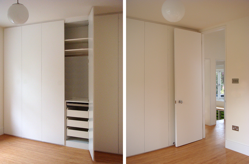 Built-in storage / wardrobe